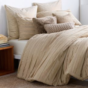 Dkny Loft Stripe Linen Duvet Cover Full Queen