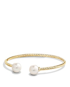 David Yurman - Solari Pearl Bead Cuff Bracelet in 18K Gold