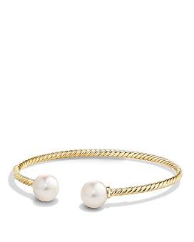 David Yurman - 18K Gold Solari Bead Bracelet with Gemstones, 4mm