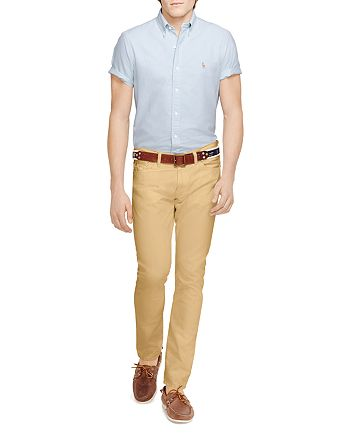 Polo Ralph Lauren - Oxford Regular Fit Button-Down Shirt & Varick Slim Fit Five Pocket Pants
