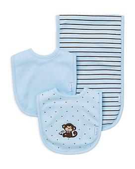 Little Me - Infant Boys' Monkey Bib & Burp Cloth Set - Baby