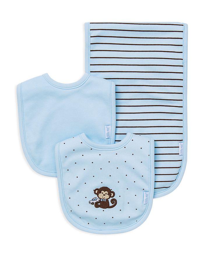 Little Me - Infant Boys' Monkey Bib & Burp Cloth Set