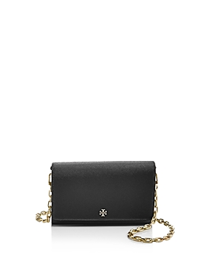 Tory Burch Robinson Saffiano Leather Chain Wallet