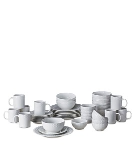 Gourmet Basics by Mikasa - Dots 40-Piece Dinnerware Set