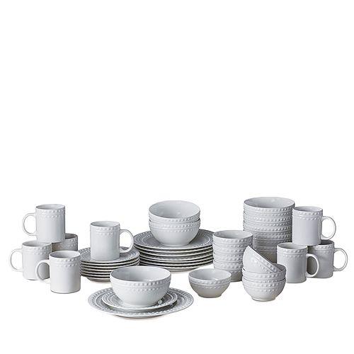 Gourmet Basics by Mikasa Mikasa Dots 40-Piece Dinnerware Set ...