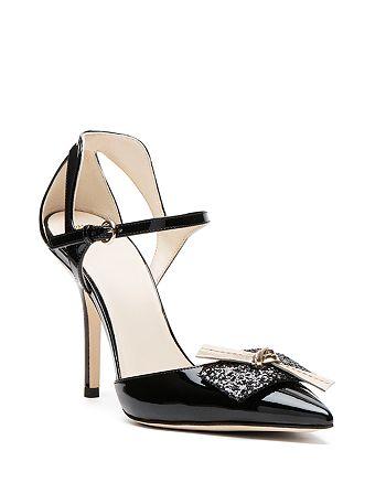 c506bd3a230 Frances Valentine Julia Embellished d Orsay Ankle Strap Pumps ...