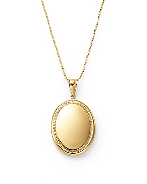 14K Yellow Gold Oval Locket Necklace, 22 - 100% Exclusive