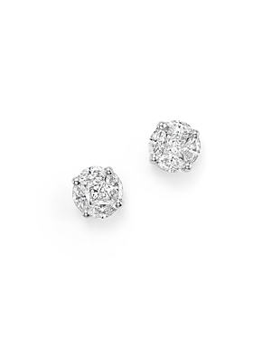 Roberto Coin 18K White Gold Diamond Stud Earrings