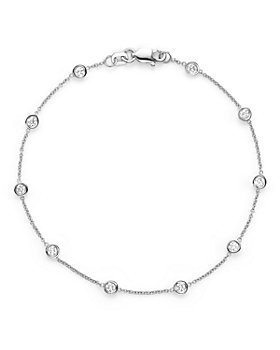Bloomingdale's - Diamond Station Bracelet in 14K White Gold, .50 ct. t.w. - 100% Exclusive