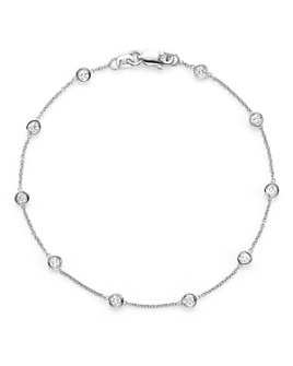 Bloomingdale's - Diamond Station Bracelet in 14K White Gold, .50 ct. t.w.- 100% Exclusive