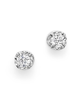Bloomingdale's - Diamond Solitaire Stud Earrings in 14K White Gold, 0.35-0.60 ct. t.w. - 100% Exclusive