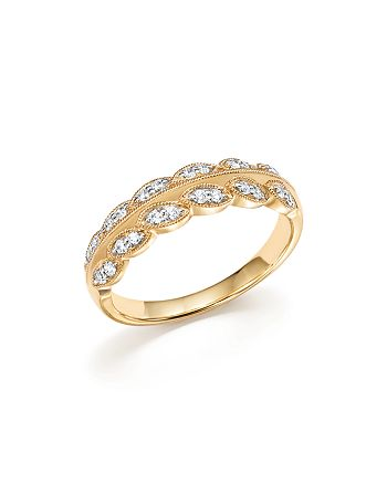 Bloomingdale's - Diamond Leaf Band in 14K Yellow Gold, .25 ct. t.w.- 100% Exclusive