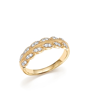 Diamond Leaf Band in 14K Yellow Gold, .25 ct. t.w. - 100% Exclusive