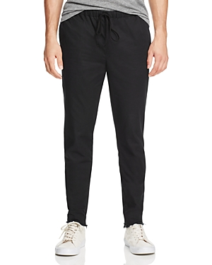 Atm Drawstring Raw Cut Tapered Fit Pants