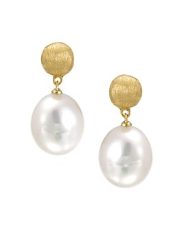 Marco Bicego - 18 K Yellow Gold and Pearl Drop Earrings