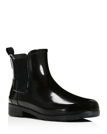 51d145429ec Hunter Women's Original Refined Chelsea Gloss Rain Booties ...