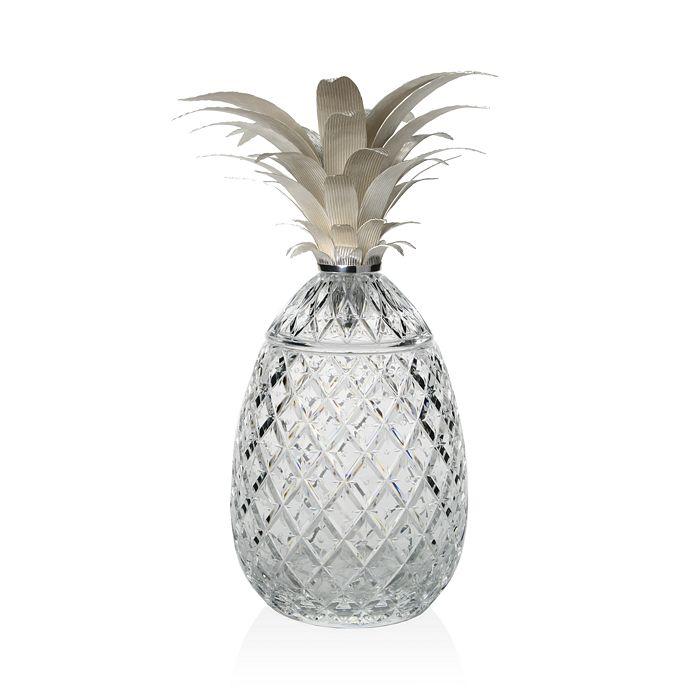 "William Yeoward Crystal - Crystal ""Isadora Silver"" Pineapple Centerpiece, 11"""