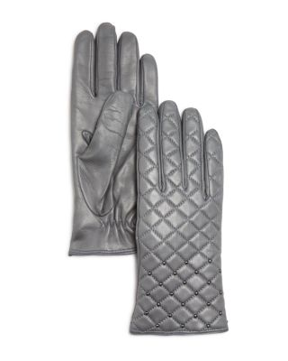 Bloomingdale's CASHMERE LINED QUILTED LEATHER GLOVES - 100% EXCLUSIVE