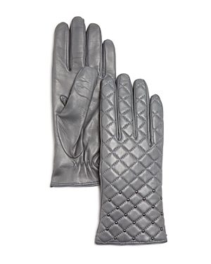Bloomingdale's Cashmere Lined Quilted Leather Gloves - 100% Exclusive at Bloomingdale's