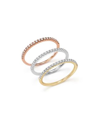 Diamond Micro Pavé Band in 14K Rose Gold, .15 ct. t.w.