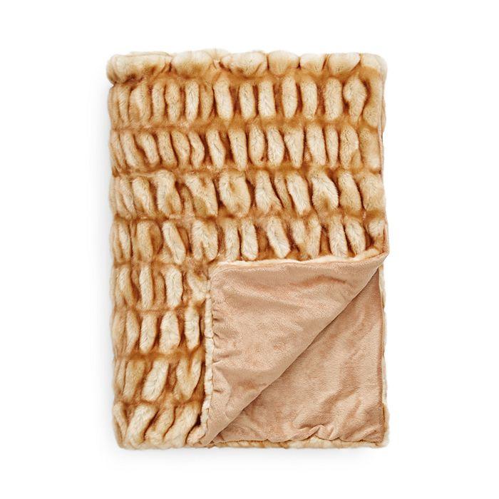 Hudson Park Collection - Sculpted Faux Fur Throw - 100% Exclusive