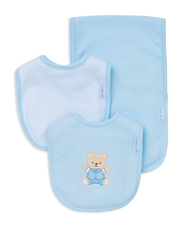 Little Me - Infant Boys' Bear Bib & Burp Cloth Set