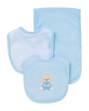 Little Me Infant Boys Bear Bib  Burp Cloth Set