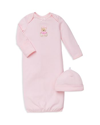 Little Me - Girls' Bear Gown & Hat Set - Baby
