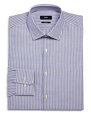 Boss Shadow Stripe Sharp Fit Regular Fit Dress Shirt