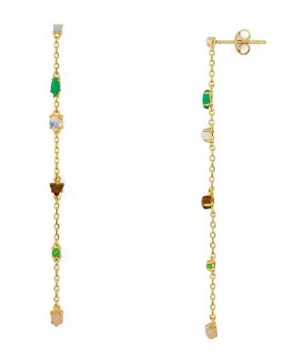 Staz Mixed Cabochon Drop Earrings by Jules Smith