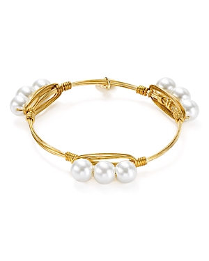 Bourbon & Boweties Cultured Freshwater Pearl Bangle
