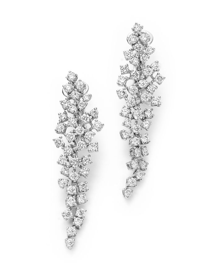 Bloomingdale's Cascade Diamond Drop Earrings in 14K White Gold, 2.55 ct. t.w. - 100% Exclusive  | Bloomingdale's