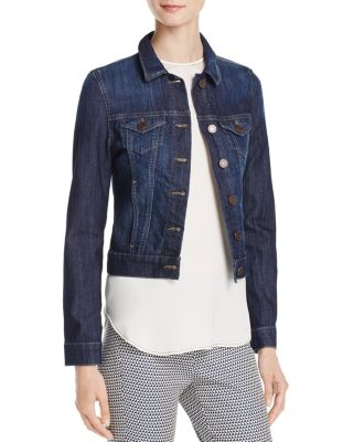 Samantha Denim Jacket In Dark Nolita