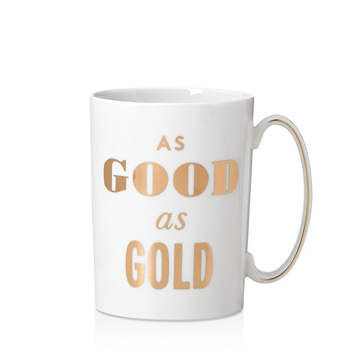 kate spade new york - Simply Sparkling Mug, Good As Gold
