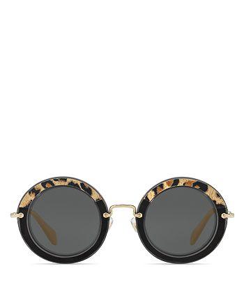 Miu Miu - Women's Combo Round Sunglasses, 49mm