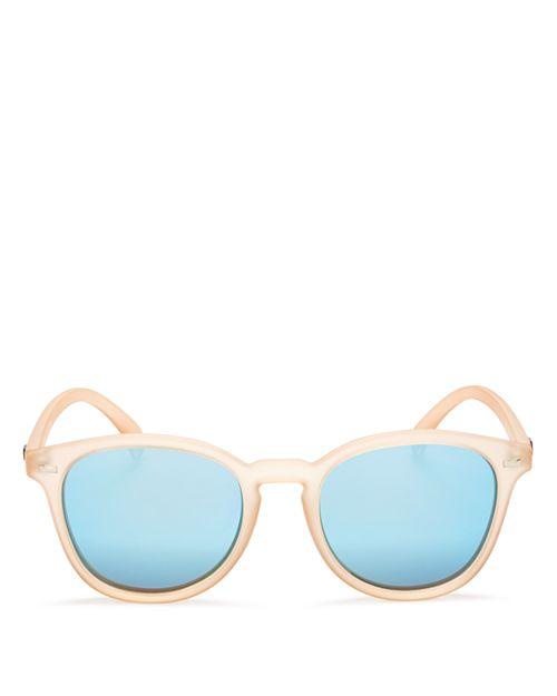 Le Specs - Women's Bandwagon Mirrored Round Sunglasses, 50mm