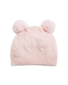 Bloomie's Infant Girls' Cashmere Cable Hat - 100% Exclusive - Bloomingdale's_0