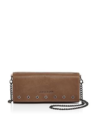 Longchamp Paris Rocks Leather Chain Wallet