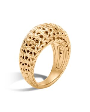 John Hardy 18K Yellow Gold Classic Chain Dome Ring