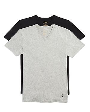 Polo Ralph Lauren Stretch Comfort V-Neck Tee, Pack of 2