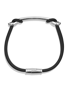 David Yurman - Maritime Rubber ID Bracelet in Black
