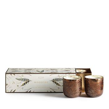 Illume - Woodfire Mini 3-Piece Mercury Candle Set