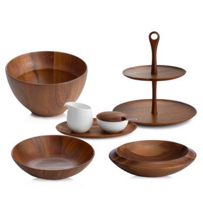 SKYE Wood Individual Salad Bowl