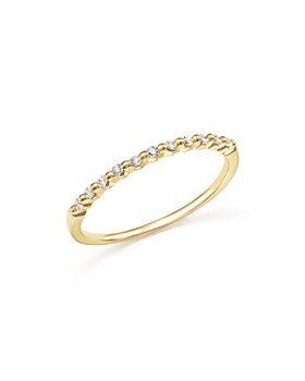 Bloomingdale's - Diamond 11 Stone Stackable Band in 14K Gold, .10 ct. t.w. - 100% Exclusive