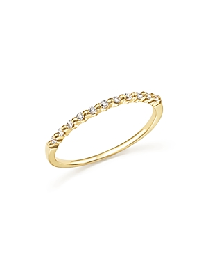 Diamond 11 Stone Stackable Band in 14K Yellow Gold, .10 ct. t.w. - 100% Exclusive