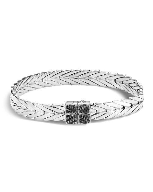 JOHN HARDY - Sterling Silver Modern Chain Bracelet with Black Spinel