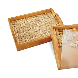 Wine Enthusiast Cork Serving Tray
