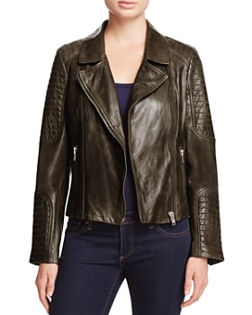 BB DAKOTA - Heely Leather Moto Jacket