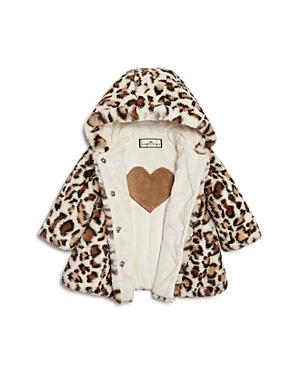 Widgeon Infant Girls' Leopard Print Faux Fur Coat - Sizes 9-24 Months