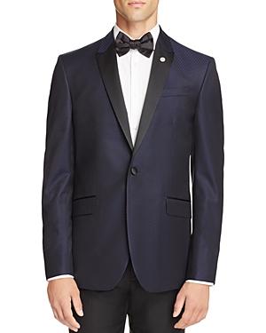 Ted Baker Jacquard Textured Slim Fit Tuxedo Jacket